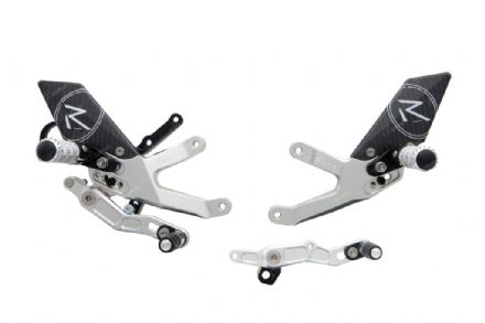 LighTech BMW S1000RR 2015-2018 'R' Version Adjustable Rearsets Silver